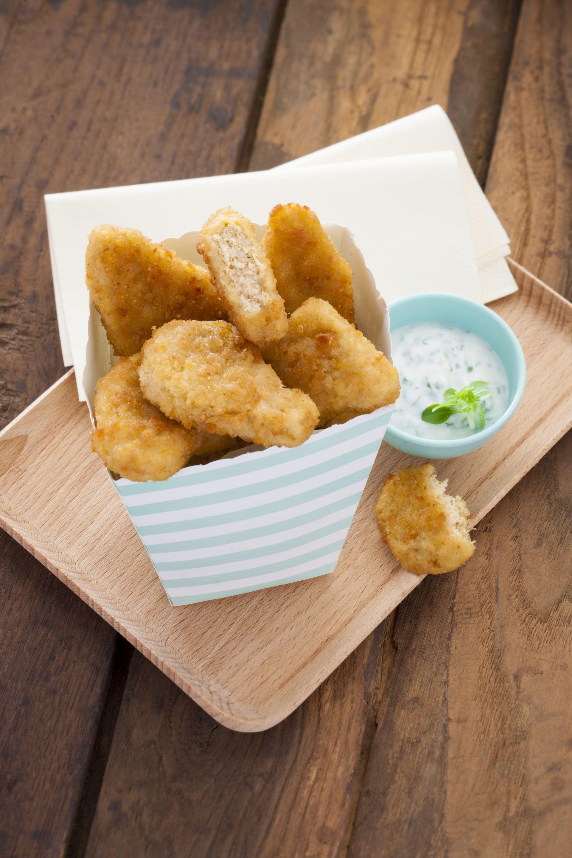 Nuggets végétariens pour une alternative végétal au poulet