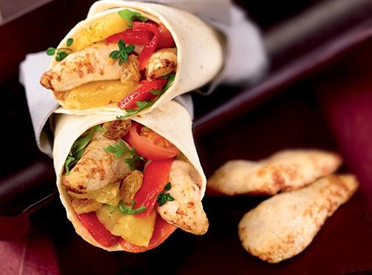 Wrap aiguillettes poulet rôties